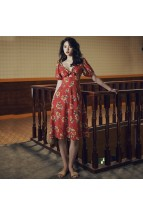 (Pre-order) Haley Red Floral Dress