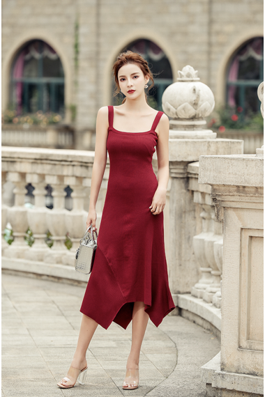 (Pre-order) Sophia Knit Midi Dress in Red