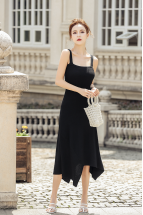(Pre-order) Sophia Knit Midi Dress in Black